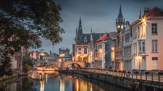 Ghent, Belgium, a museum of early Flemish architecture