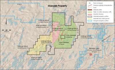 Gitennes Adds Strategic Claims to Cover Gold in Tills and Structures at Maxwell Property, Chapais-Chibougamau Area, Quebec
